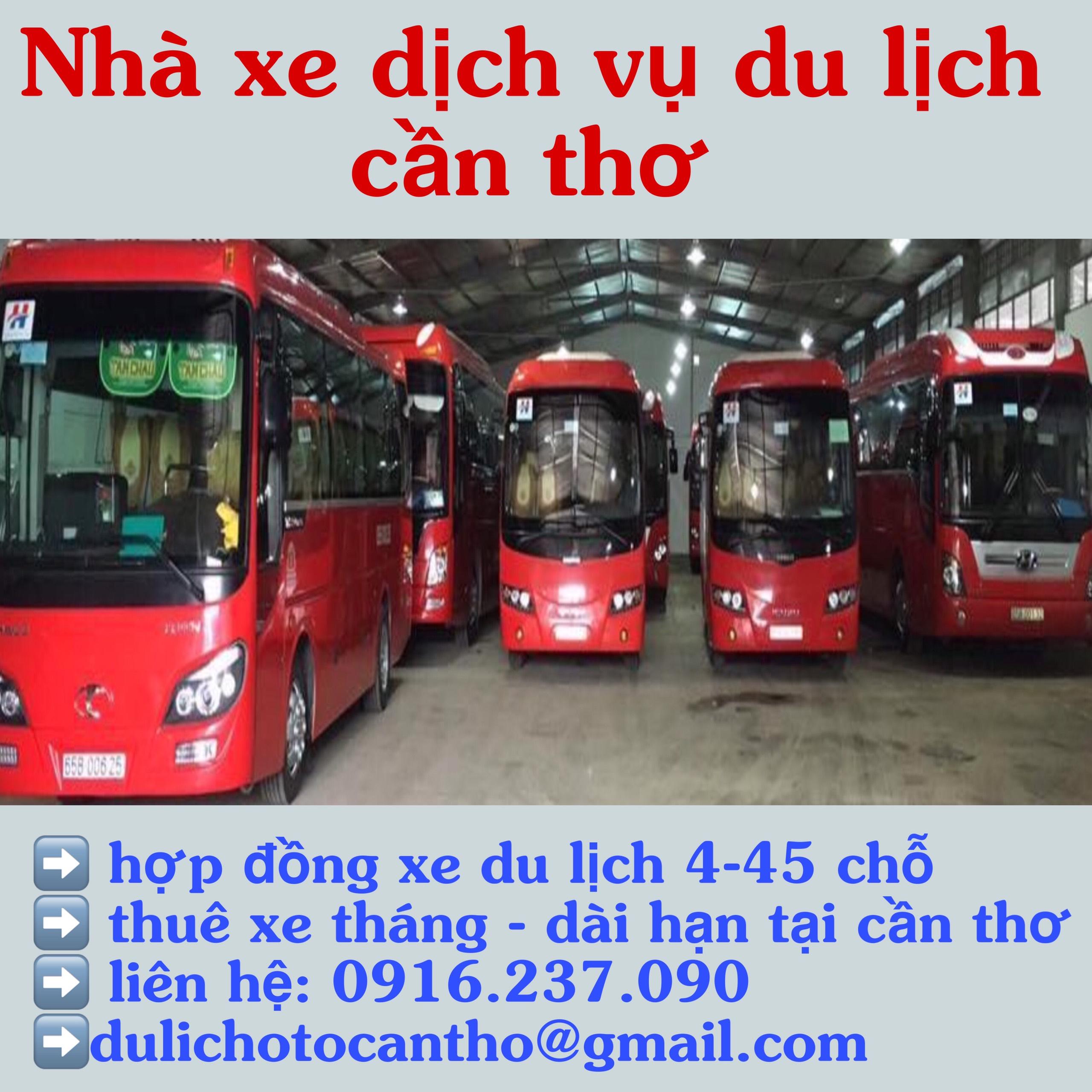 Nhà xe dịch vụ du lịch 4-7-16 chỗ tại cần thơ