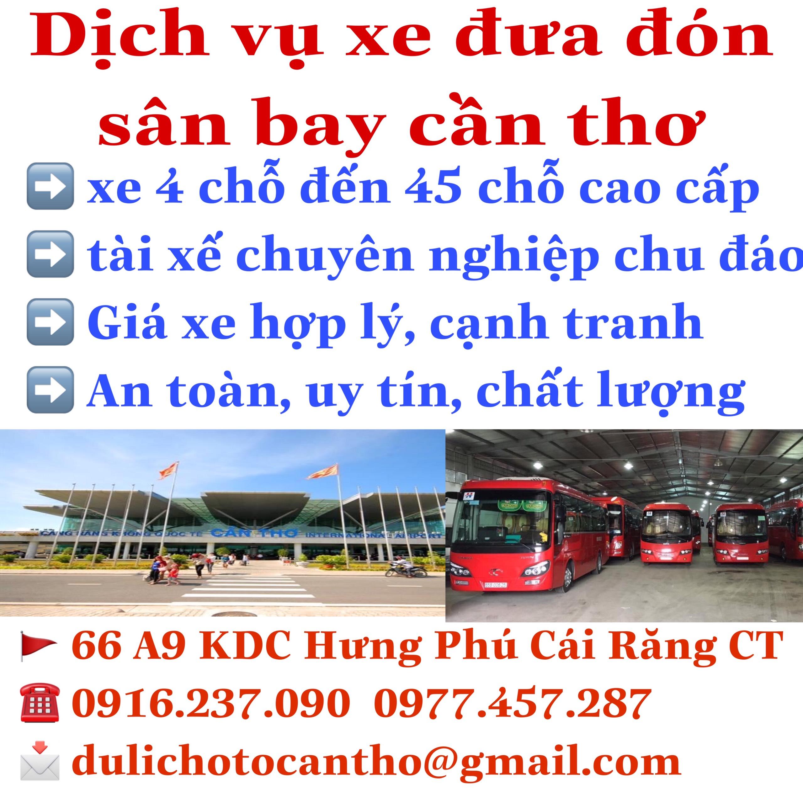 Dịch Vụ Xe Đưa Đón Sân Bay Cần Thơ