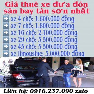 Giá thuê xe đi sân bay Tân Sơn Nhất
