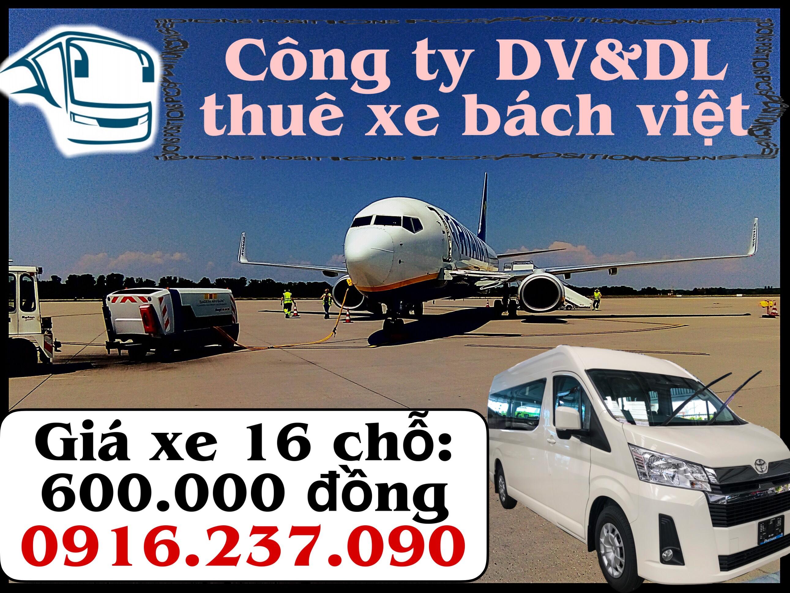 Cần thuê Xe ô tô 16 chỗ đưa đón sân bay cần thơ