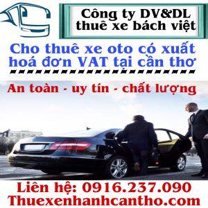 Hợp đồng thuê xe oto có xuất hóa đơn VAT tại cần thơ